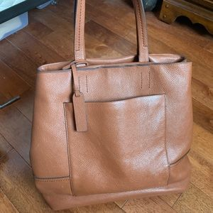 J. Crew Brown Leather Tote Bag